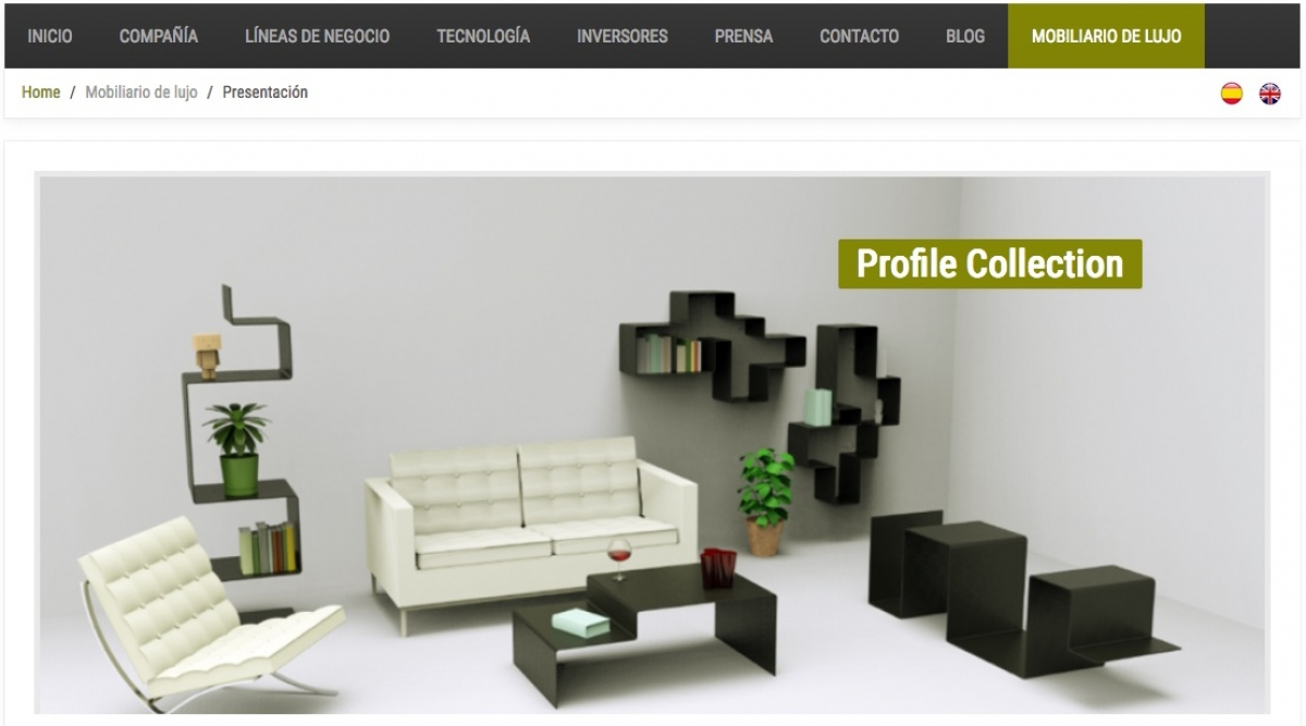 "Carbures launches a new business line of luxury furnitures in ""composite"""