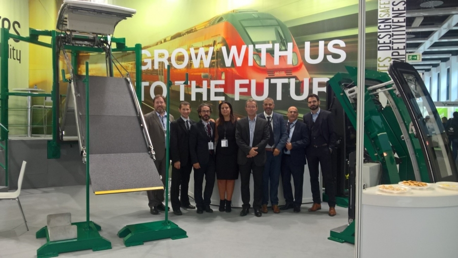 Carbures attended the Innotrans fair in Berlin with its first railway pieces